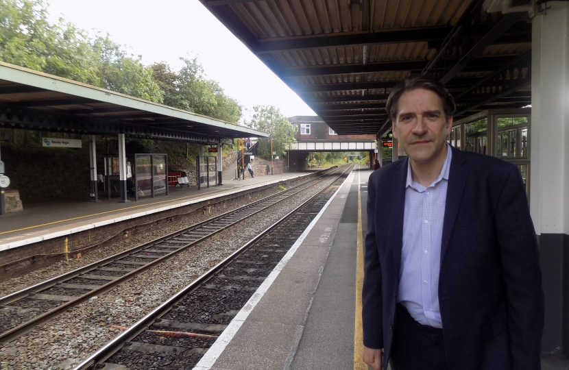 James Morris MP is campaigning for improved local stations