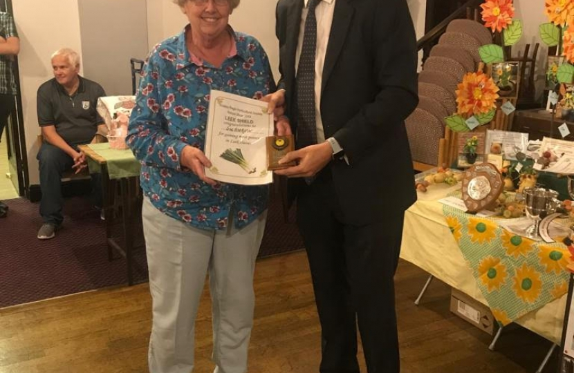 James Morris MP with Sue Goodyear who won best in show