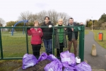James Morris MP with Halesowen North Councillor Karen Shakespeare and local volunteers pick up litter