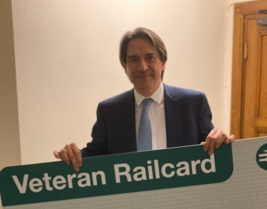 James promotes the Veterans Railcard